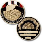 !!DISC!!AFGHANISTAN CAMPAIGN SERVICE CHALLENGE COIN - ENGRAV 13069