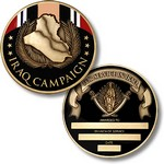 !!DISC!!IRAQ CAMPAIGN SERVICE CHALLENGE COIN - ENGRAVABLE 13070