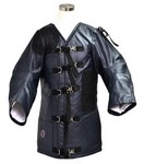 NRA LEATHER RIFLEMAN SHOOTING COAT - NAVY 200N32