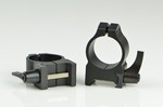 WARNE SCOPE RINGS 1 in, MED. HEIGHT, QUICK DETACH, MATTE BLK 201LM