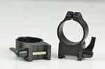 WARNE SCOPE RINGS 30mm, HIGH HEIGHT, QUICK DETACH, MATTE BLK 215LM