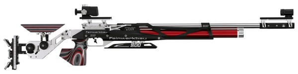 FWB MOD 800X COMP AIR RIFLE RED/BLACK - MED (RIGHT) 32232
