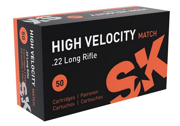 SK .22 LR HIGH VELOCITY MATCH AMMUNITION (50rds) 420137