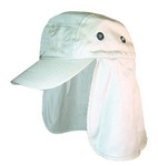 BEIGE CAP W/ EAR & NECK FLAP 5920B