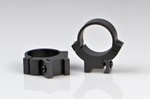 WARNE SCOPE RINGS 1 in, MED. HEIGHT, GROOVED REC., MATTE BLK 721M