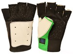 CC GREEN/BLACK/WHITE FINGERLESS SHOOTING GLOVE (MEDIUM-RHS) CC71M