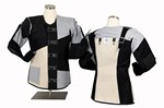 CC ISSF LADIES BLK/GRAY/WHT SHOOTING COAT (US 10 - RIGHT) CC90110