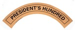 PRESIDENT'S HUNDRED DECAL STICKER DPS70