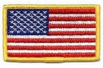 "!!DISC!! 3-3/8 X 2"" EMBROIDERED AMERICAN FLAG HP0001"