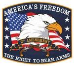 "!!DISC!! 12""x 11"" ""AMERICA'S FREEDOM"" EMBROIDERED EMBLEM HP8252"