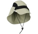 KHAKI RIVER RUNNER CAP W/ DETACH NECK GUARD, SUPPLEX, & Q3 RR002K