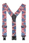 """!!DISC!! 2"""" """"PERRY"""" HOOK ON SUSPENDERS 48"""" (USA FLAG) SF2US"""