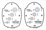 SCORING OVERLAYS FOR PISTOL (SET OF 2) SO10