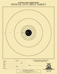 25 FT AIR RIFLE TARGET (1-BULL) (100) TQ51