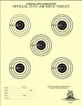 25 FT AIR RIFLE TARGET (5-BULL) (100) TQ55