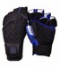 CC BLACK/BLUE FINGERLESS GLOVE W/EUR TOP GRIP RUBBER(M-RHS) CC61M