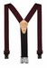 "1.5"" ""PERRY"" HOOK ON SUSPENDERS 48"" (BURGUNDY) SN200B"
