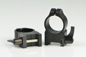 WARNE SCOPE RINGS 1 in, HIGH HEIGHT, QUICK DETACH, MATTE BLK 202LM