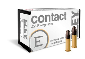 ELEY .22 LR CONTACT SEMI-AUTO SUBSONIC (42gr.) (50 rds) A02300