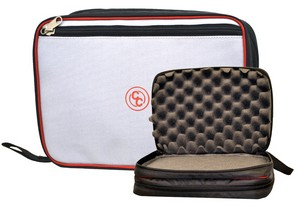 CC DOUBLE SIDED SOFT PISTOL CASE (RED/GRAY/BLACK) CC1502