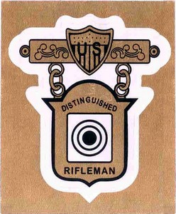 DISTINGUISHED RIFLE DECAL STICKER DRS50