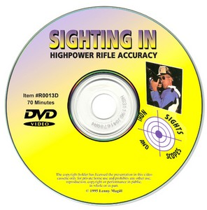 !!DISC!!SIGHTING IN RIFLES- IRON SIGHT AND SCOPES VIDEO(DVD) R0013D