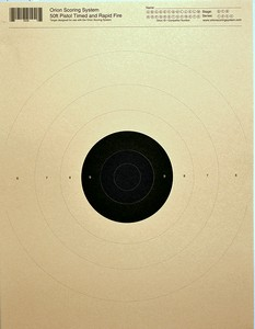 ORION SYSTEMS TARGETS - 50 FT. TIMED & RAPID PISTOL (250 PK) TAR0035