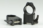 WARNE SCOPE RINGS 1 in, ULTRA HIGH HEIGHT, QUICK DETACH, BLK 204LM