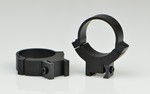 WARNE SCOPE RINGS 30mm, HIGH HEIGHT, GROOVED REC., MATTE BLK 732M