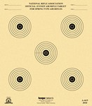 !DISC! KRUGER A-44/5 15ft SPRING-TYPE AIR RIFLE TARGETS(100) A445K100